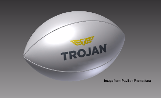 trojan custom rugby ball