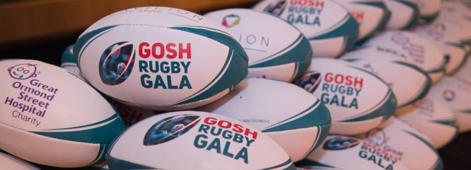 Rugby balls made for the GOSH Rugby Gala